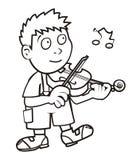 Violoniste, livre de coloriage illustration de vecteur