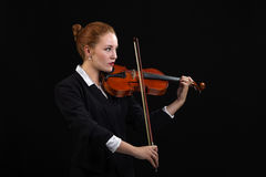 Violoniste Playing Classical Violin Photo stock