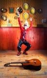 Viool of een gitaar? Royalty-vrije Stock Foto's