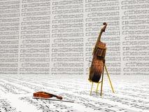 Viool en cello stock illustratie
