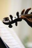 Viool en muziek Royalty-vrije Stock Afbeelding