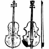 Viool, Muzikaal koordinstrument stock illustratie