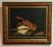 Vioololieverfschilderij Royalty-vrije Stock Foto