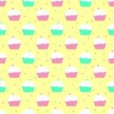 Viooltje en muntcakespatroon Royalty-vrije Stock Afbeeldingen