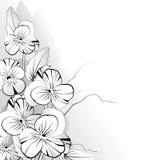 Viooltje in zwart-wit royalty-vrije illustratie