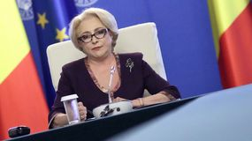 Viorica Dancila - reunião do governo - política romena foto de stock royalty free