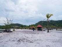 Viovio strand i Batam, Indonesien Arkivbild