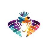 vipère d'icône de serpent de danger de calibre de logo de serpent Image libre de droits