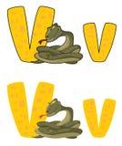 Vipère de la lettre V Images stock