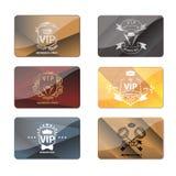 仅VIP俱乐部会员优质卡片传染媒介集合 免版税库存照片