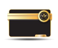 Vip卡片标签 库存照片