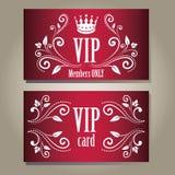 VIP卡片 库存照片