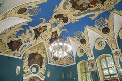 VIP大厅或室更高的舒适Kazansky火车站vokzal的Kazansky--是九个铁路终端之一在莫斯科,俄罗斯 库存图片