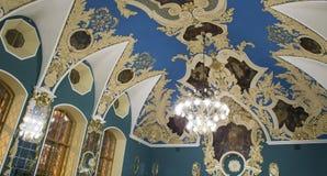 VIP大厅或室更高的舒适Kazansky火车站vokzal的Kazansky--是九个铁路终端之一在莫斯科,俄罗斯 库存照片