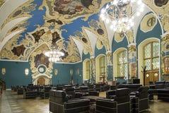 VIP大厅或室更高的舒适Kazansky火车站vokzal的Kazansky--是九个铁路终端之一在莫斯科,俄罗斯 免版税图库摄影