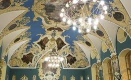 VIP大厅或室更高的舒适Kazansky火车站vokzal的Kazansky--是九个铁路终端之一在莫斯科,俄罗斯 免版税库存图片