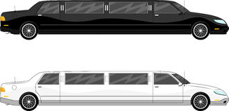 Vip大型高级轿车传染媒介 库存图片