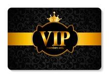 VIP成员卡片传染媒介例证 免版税图库摄影