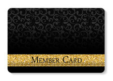 VIP成员卡片传染媒介例证 免版税库存图片