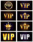 VIP成员卡集传染媒介例证 免版税图库摄影