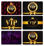 VIP成员卡集传染媒介例证 免版税库存图片