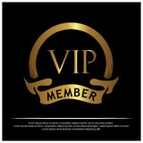 VIP成员股票象 商标的,横幅,模板,传染媒介以图例解释者-传染媒介设计 向量例证