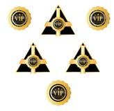 VIP标志和徽章 库存照片