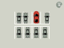 Vip概念,停车处的超级停车场 免版税库存照片