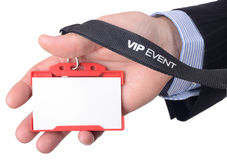 VIP通入 免版税库存照片