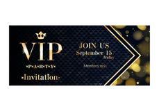 VIP邀请卡片优质设计模板 皇族释放例证