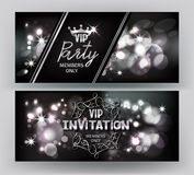 VIP邀请卡片有抽象闪耀的背景 库存图片