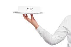 VIP εξυπηρέτηση πελατών σε ένα εστιατόριο, η ανακοίνωση Στοκ Εικόνα