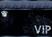 VIP ευχετήρια κάρτα διαμαντιών Στοκ Εικόνες