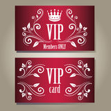 VIP κάρτες Στοκ Εικόνες