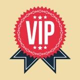 VIP经典葡萄酒徽章 库存图片