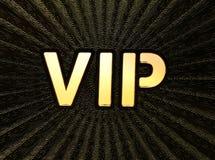 VIP 在金黄背景的Vip题字 免版税库存照片