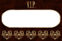 Vip. Golden card with place for text Royalty Free Stock Photography