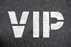 VIP. Inscription on the pavement royalty free stock photography