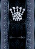 VIP κάρτα κορωνών βασίλισσας διαμαντιών Στοκ εικόνα με δικαίωμα ελεύθερης χρήσης
