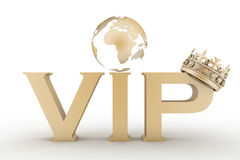 VIP abbreviation with a crown Royalty Free Stock Photography