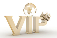 VIP abbreviation with a crown Stock Photos