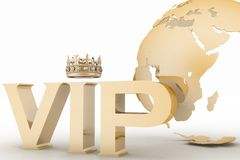 VIP abbreviation with a crown Royalty Free Stock Image