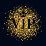 VIP abstract golden glow glitter background. Royalty Free Stock Images