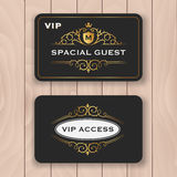VIP access card with golden flourish frame Royalty Free Stock Photo