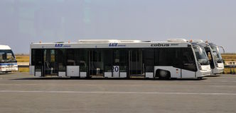 Vip aiport service - bus Stock Images