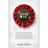 VIP background with realistic award ribbon Royalty Free Stock Images