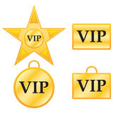 Vip badges. Icons of different designs for vips Stock Photography