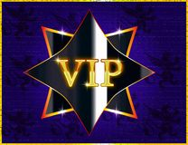VIP banner icon for website or business cards stock illustration