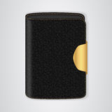 VIP Black purse with a gold clasp. Royalty Free Stock Photo