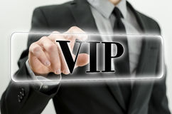VIP button Stock Photo